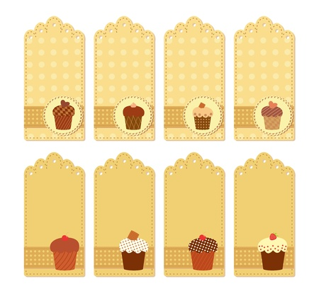 muffin tags collection Vector
