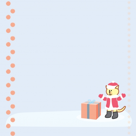 background with santa claus bear and gift box Vector