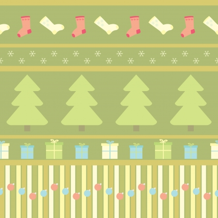 silvester: seamless pattern with christmas ornament Illustration