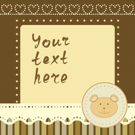 square frame with little bear Stock Vector - 14083574