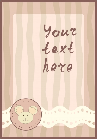 vertical frame with little mouse Vector