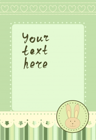vertical frame with little rabbit Vector