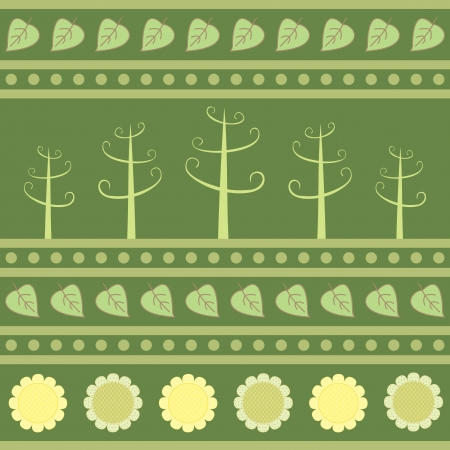 summer field seamless pattern Vector