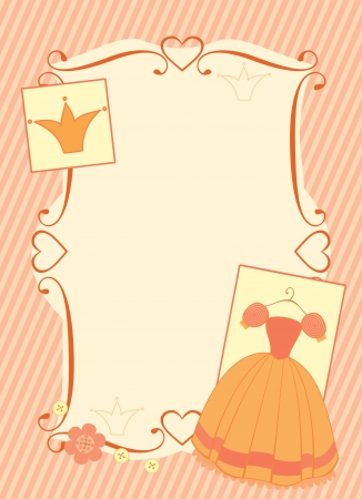 little princess frame Vector