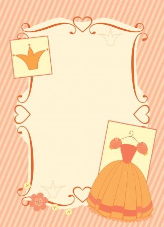little princess frame Stock Vector - 14083571