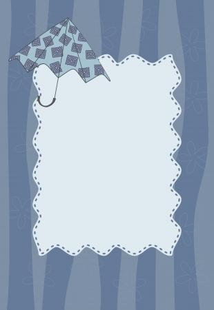 umbrella wave frame Illustration