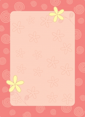 pink flower frame Vector