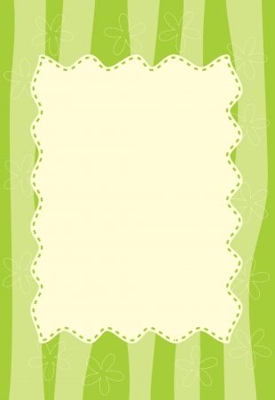 green striped frame Vector