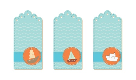 marine tags collection  Vector