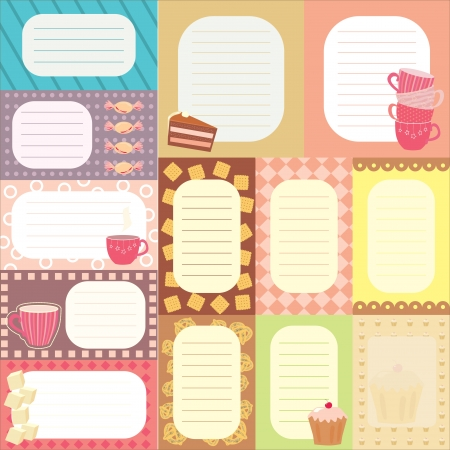 collection of tags for scrapbooking Vector