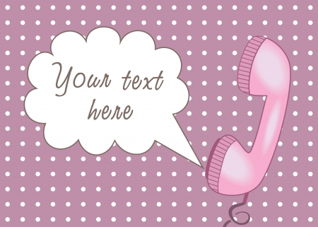 pop-art text place with telephone Illustration