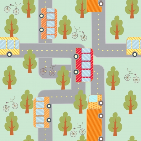city traffic seamless pattern Vector
