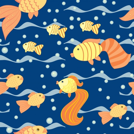 seamless pattern with a fishes Vector