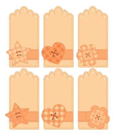 romantic tags collection Vector