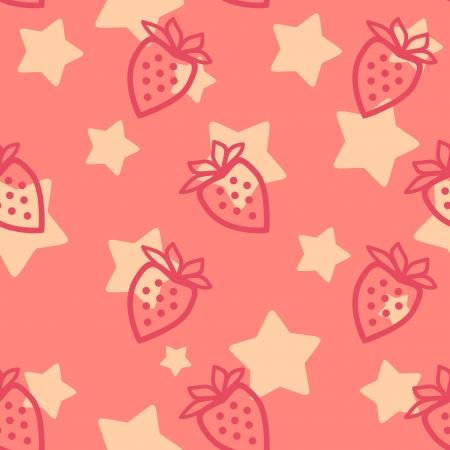 layout strawberry: strawberry silhouette  seamless pattern