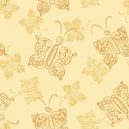 openwork: openwork butterfly seamless pattern
