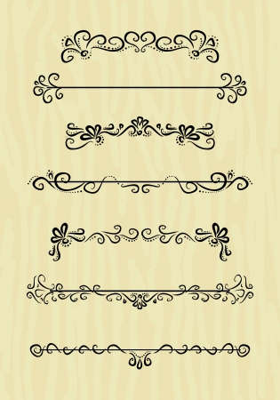 vintage design borders collection Illustration