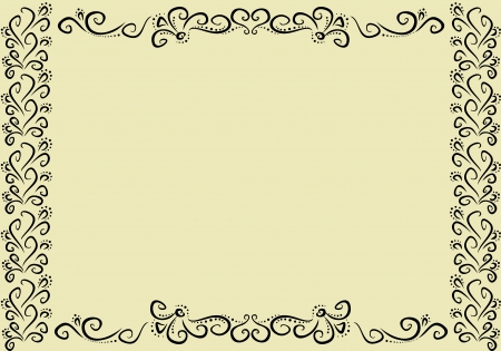 horizontal vintage frame Stock Vector - 15185530