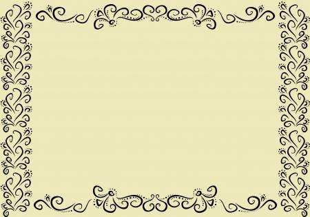horizontal vintage frame Illustration