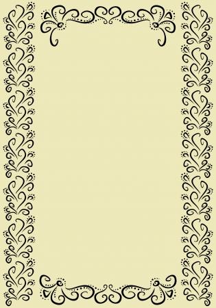 vertical divider: vertical vintage frame