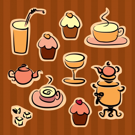 coffee break design elements Vector