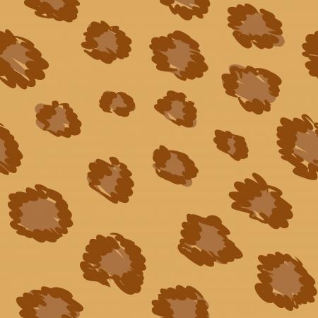 leopard skin seamless pattern Vector
