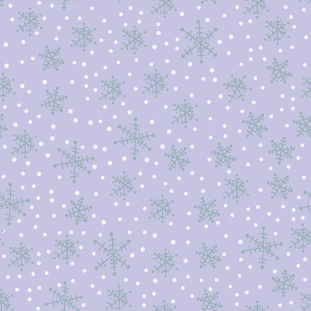 hand drawing snowflakes seamless pattern Stock Vector - 16894415