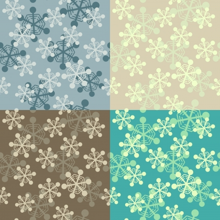 snowflake seamless pattern set Stock Vector - 16894419