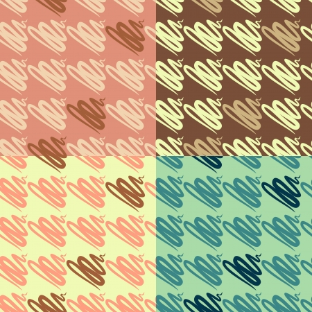 abstract fir seamless pattern set Vector