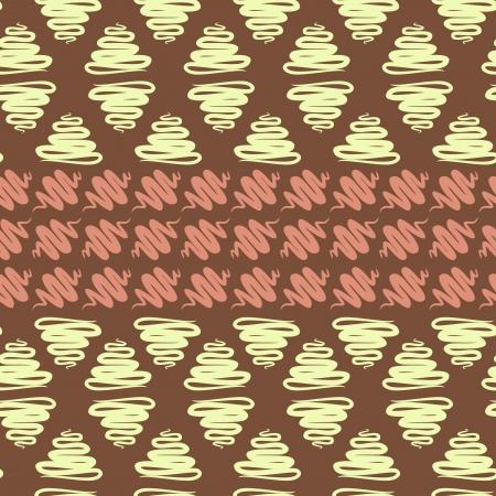 abstract ribbon horizontal seamless pattern