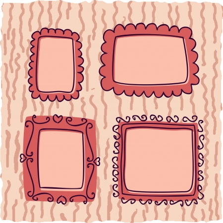 sertificate: scrapbook vintage frames for girl Illustration