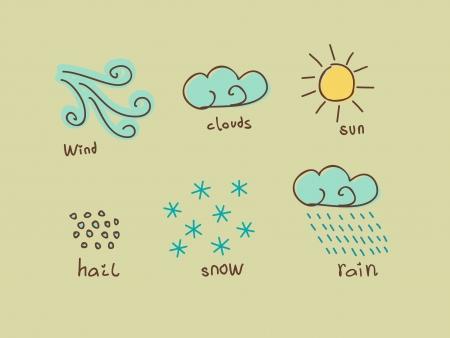 weather design elements Stock Vector - 16949418