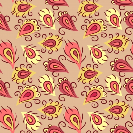 home fashion: little abstract peacock feather seamless pattern Illustration