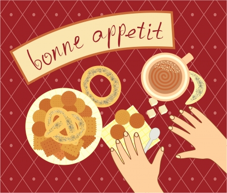 bon appetit for the breakfast Stock Vector - 16949430