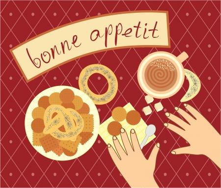 bon appetit for the breakfast Stock Vector - 16949430