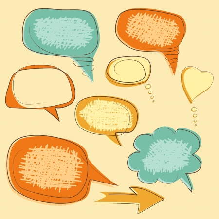 collection of grunge speech bubbles Vector