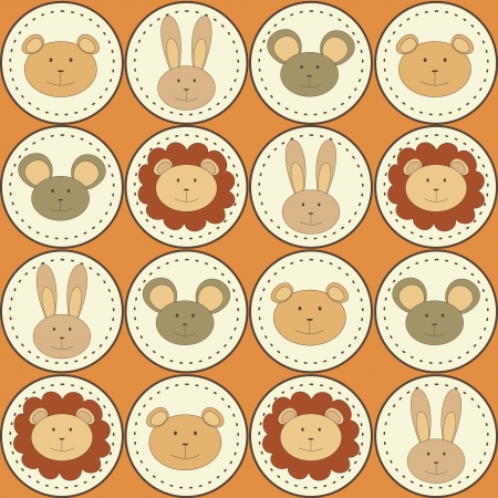 seamless pattern with animals icons Vector