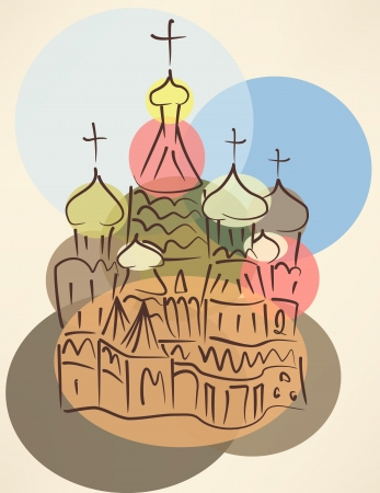 blower: bubble blower sketch of traditional russian church