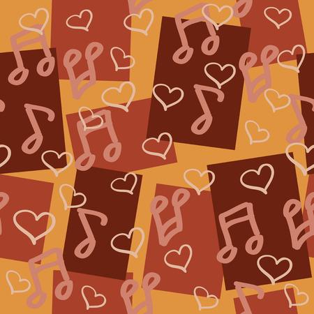 chocolaty: dark chocolaty seamless pattern for music lovers Illustration