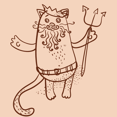 Neptune chat aperçu illustration vectorielle