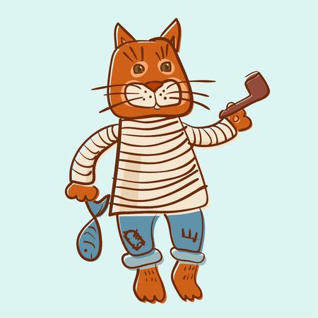 Cat old seaman offset image
