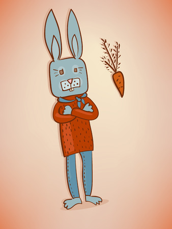 smart rabbit and carrot