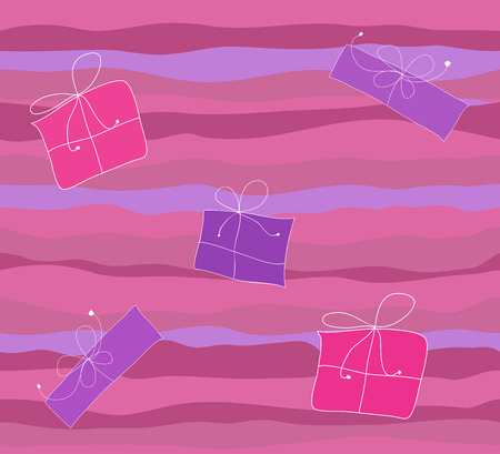 Seamless background featuring gift boxes