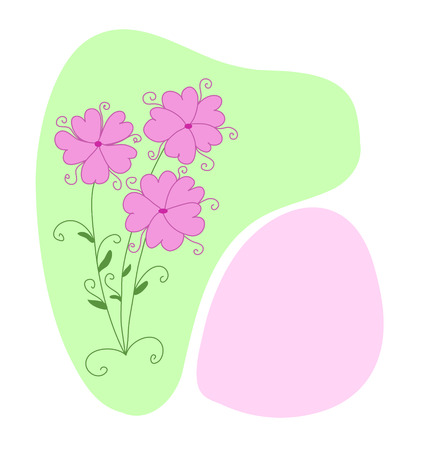 Abstract floral background with pink flowers Stock Vector - 6137140