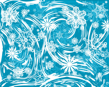 An abstract illustration of a frost-haze window Illustration