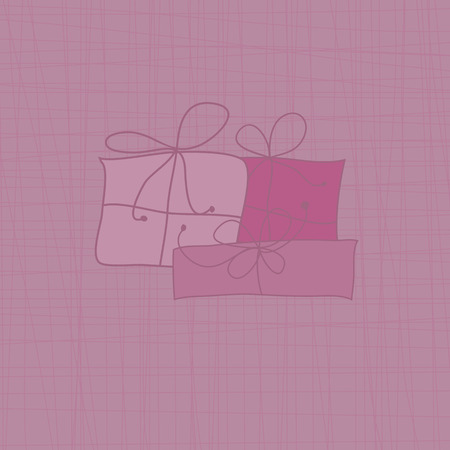 Pink background featuring gift boxes Illustration