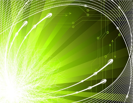 Fondo la tecnología abstracta Ilustración de vector