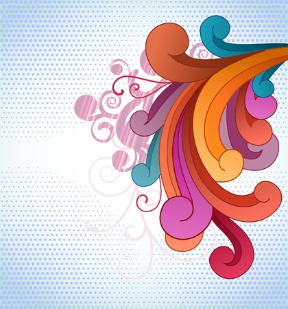 Background with flowing colorful scrolls