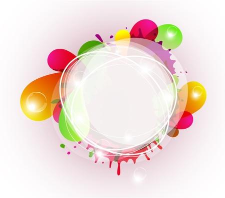 Abstracte kleurrijke backrgound met copyspace Stock Illustratie