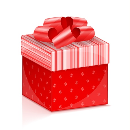 red gift box: Red gift box illustration